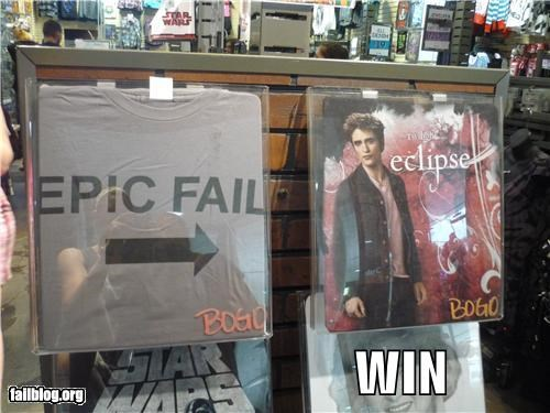 epic fail failboat g rated placement t shirts twilight win - 3891170560