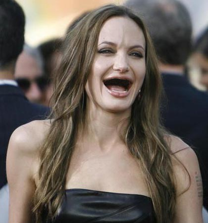 creepy teeth photoshop actresses