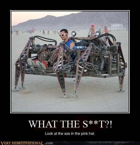 awesome,burning man,desert,post apocalyptic,Pure Awesome,robot,spider