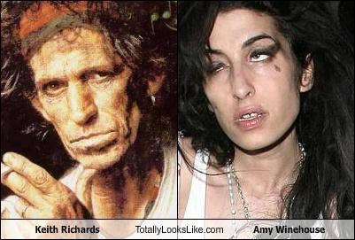 amy winehouse,Keith Richards