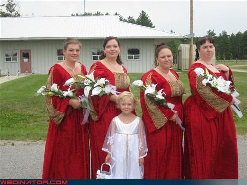 awkward bridesmaids bridesmaids bridesmaids renaissance faire dresses confusing fashion is my passion funny wedding photos renaissance faire ugly bridesmaid dresses ugly dress wedding party Wedding Themes weird wedding - 3892082432