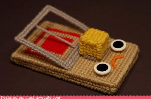 art craft face guilty Knitted mouse trap Sad - 3892670464