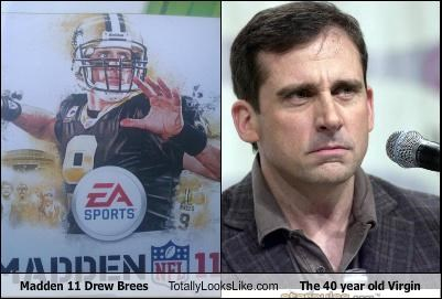 40-year-old virgin,drew brees,madden 11,steve carrell