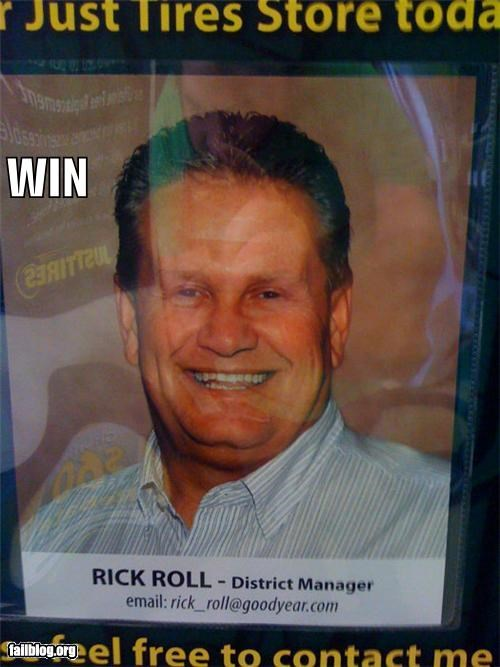 failboat g rated meme name rick roll sign thank you interents - 3893217536