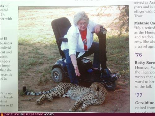 leopard old lady rascal wtf - 3893884416