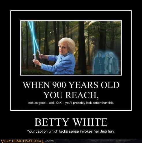 betty white angry Jedi - 3894085888
