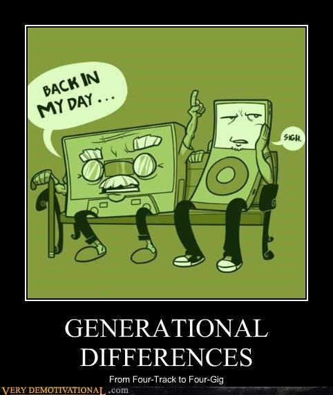 old guys,ipod,generational,differences,tape