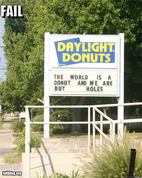 donuts failboat holes innuendo poetry signs - 3894364672
