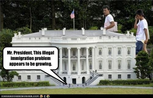 funny immigration lolz model tiny White house - 3894524160