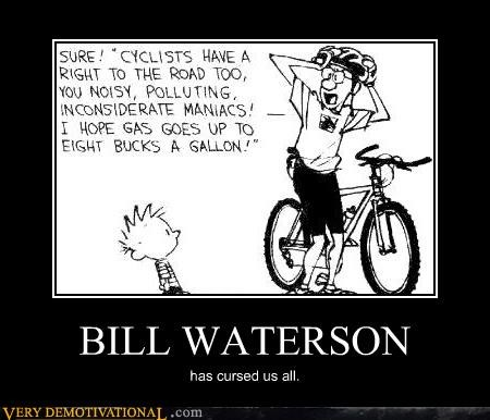 bicycle Bill Waterson calvin comics curses gas prices hobbes Sad - 3894752768
