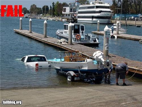 backwards boats failboat lakes launching trucks - 3895043584