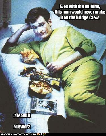 Even with the uniform, this man would never make it on the Bridge Crew. #TeamLB #LeWar2