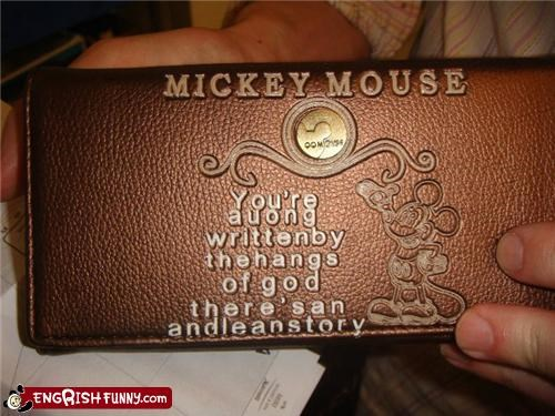 disney mickey mouse say what wallet - 3895761664