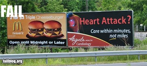 billboards failboat food for your health g rated McDonald's - 3895804416