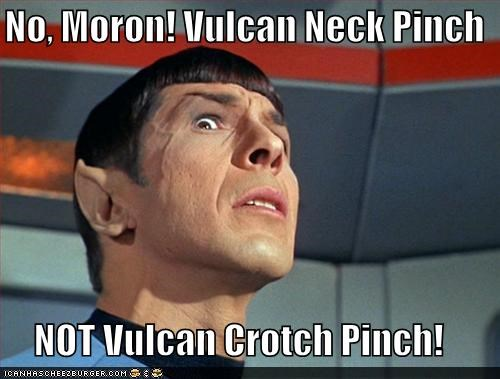 crotch Leonard Nimoy Spock Star Trek the original series Vulcan vulcan neck pinch - 3896664576