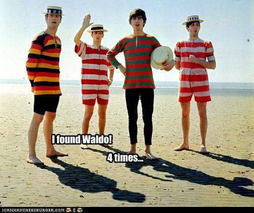 celebrity-pictures-beatles-waldo-four-times,lolz