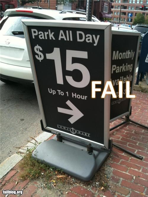 failboat g rated money parking signs - 3897293312