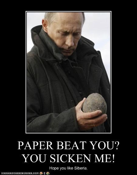 disappointed rock rock paper scissors russia Vladimir Putin vladurday
