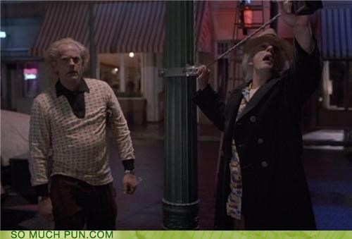 back to the future,christopher lloyd,Doc Brown,movies,paradox,puns,time travel