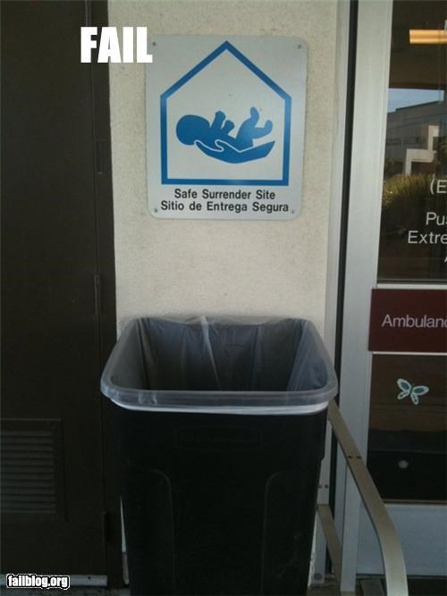 abandonment failboat safe places signs trash cans - 3898543360