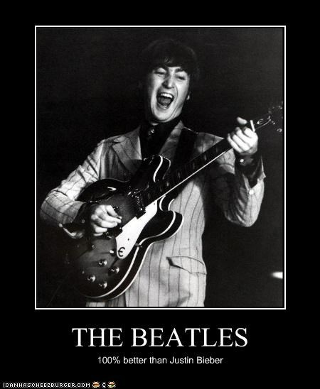 celeb,demotivational,funny,john lennon,justin bieber,Music