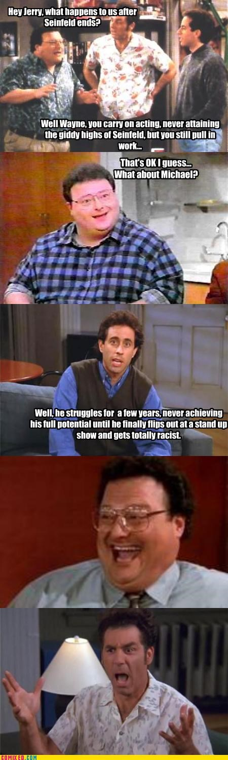 future,kramer,Newman,prediction,psychic,racism,seinfeld,TV