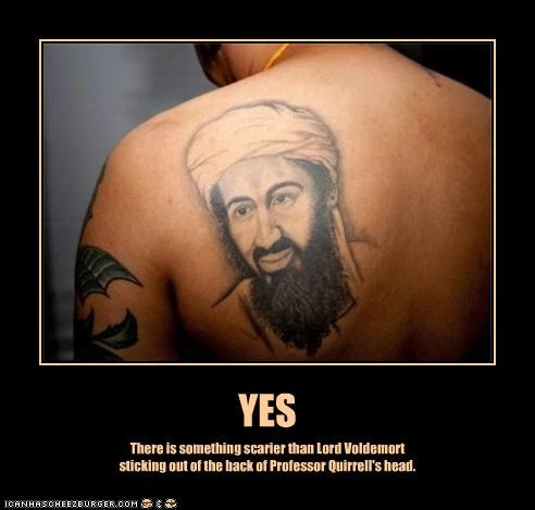 demotivational funny Harry Potter lolz Osama Bin Laden pop culture tattoo wtf - 3900451072