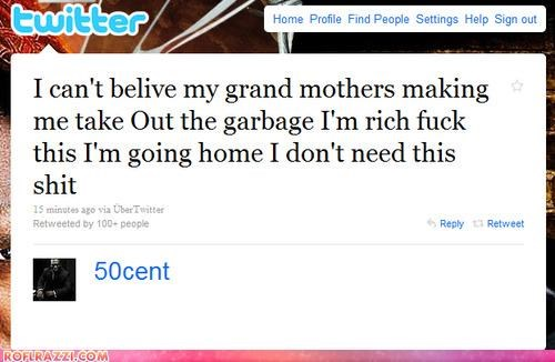 50 cent Celeb Tweets douchebags rapper - 3900873472