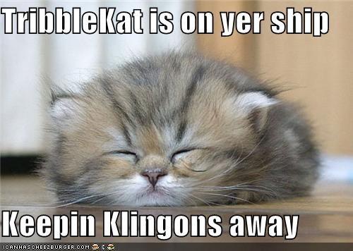 caption keep away kitten klingons Star Trek tribblekat - 3901529856