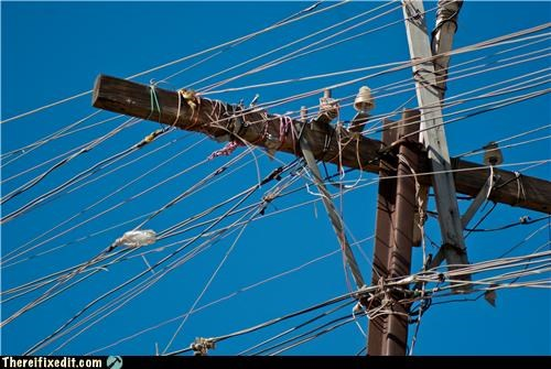 dangerous,electricity,messy,power lines,wires