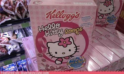 cereal food hello kitty kelloggs loops - 3903486976