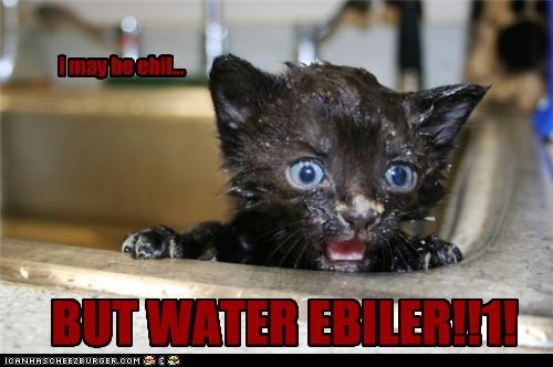 i may be ebil... BUT WATER EBILER!!1!