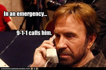 In an emergency... 9-1-1 calls him.