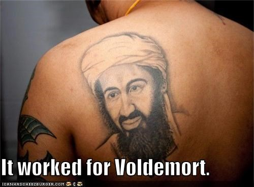 Osama Bin Laden,political pictures,tattoos