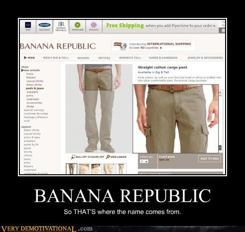 banana republic,package,no no tubes