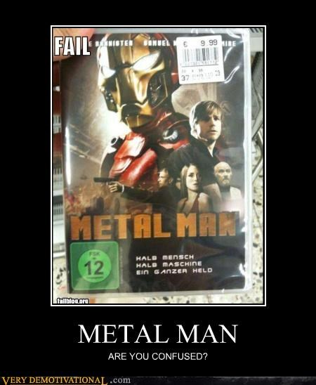 knock off metal man iron man