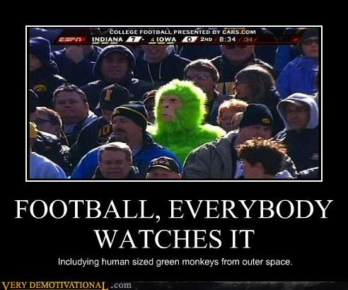 Aliens,monkey,football,funny,everybody