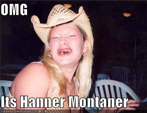 Celebriderp,cowboy hat,eating,hannah montana,hurr durr purr usual,very few teeth
