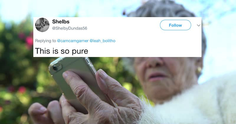 Grandma goes viral on Twitter for pulling a ridiculous technology-challenged, old person move.