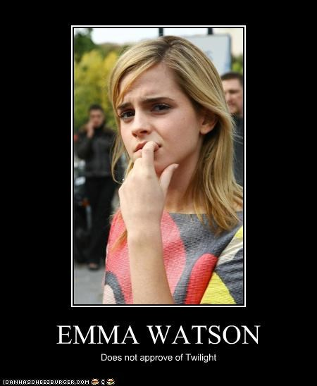 EMMA WATSON Does not approve of Twilight