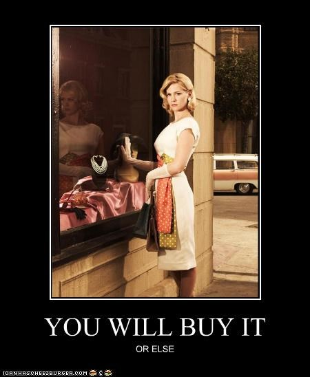 celeb demotivational funny January Jones mad men TV - 3911609088