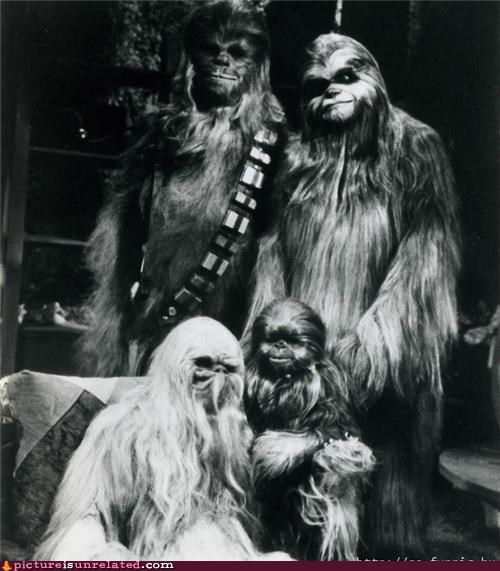 chewbacca,family,star wars,Wookies,wtf