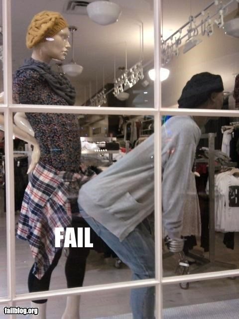 Store Display Fail store mannequin position fail