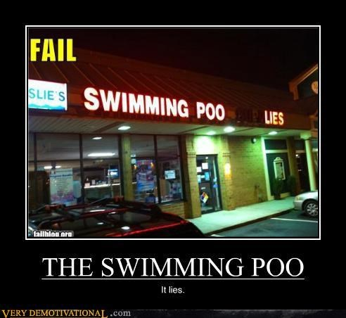 gross lies poo reality is crumbling sign swimming Terrifying - 3913059584