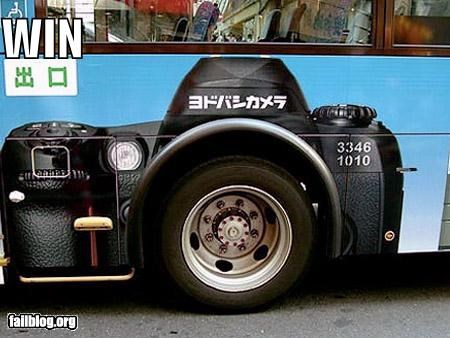 ads,bus,camera,cameras,clever,failboat,g rated,tires,transportation,win