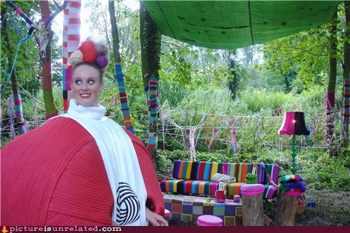 crazy lady Forest home wtf yarn - 3913816320