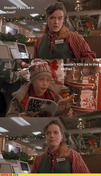 From the Movies,Home Alone,kitchen,macaulay culkin,sexism,women