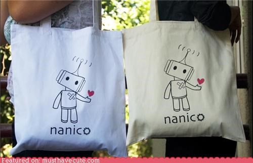bag,bandage,heart,implant,love,namico,organ,robot