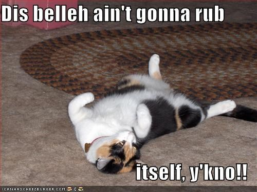 Dis belleh ain't gonna rub  itself, y'kno!!
