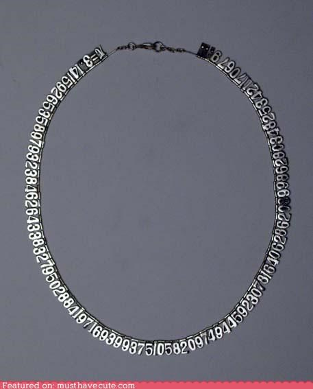 accessory cute-kawaii-stuff digits geeky Jewelry math metal necklace nerdy numbers pi - 3916025088